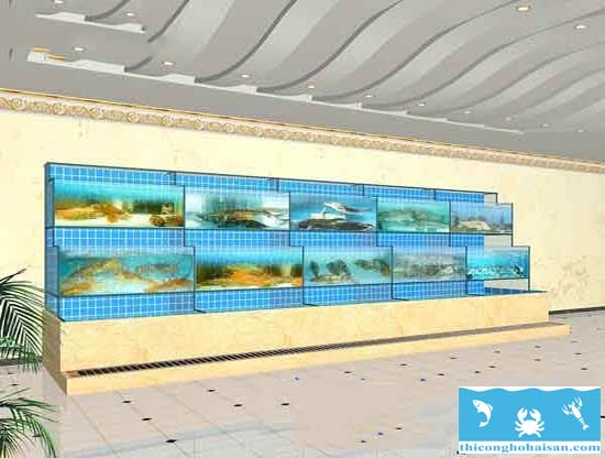 Thiết kế bể hải sản